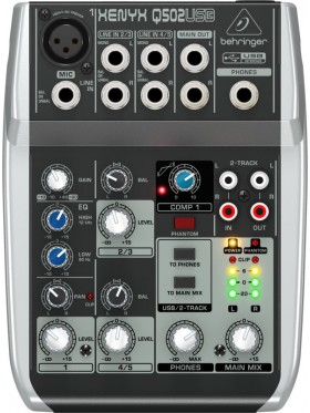 Behringer XENYX Q502USB  5-Input 2-Bus Mixer and USB/Audio Interface
