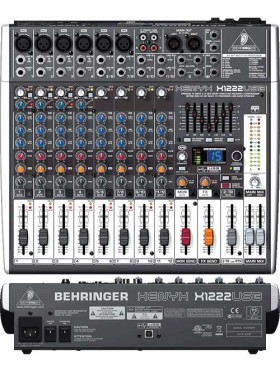Behringer XENYX X1222USB - 12-Input USB Audio Mixer with Effects