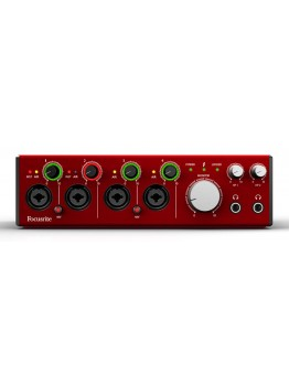 Focusrite Clarett 4Pre Audio Interface 24-bit/192kHz with Thunderbolt Connectivity