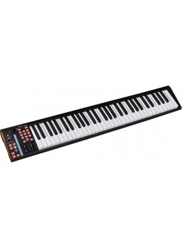 ICON-Global iKeyboard 6S 61 Semi Weighted Keys Keyboard with 24-bit/192kHz USB Audio Interface