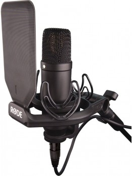 RODE NT1 Condenser Microphone with Shockmount and Popshield (New Version)